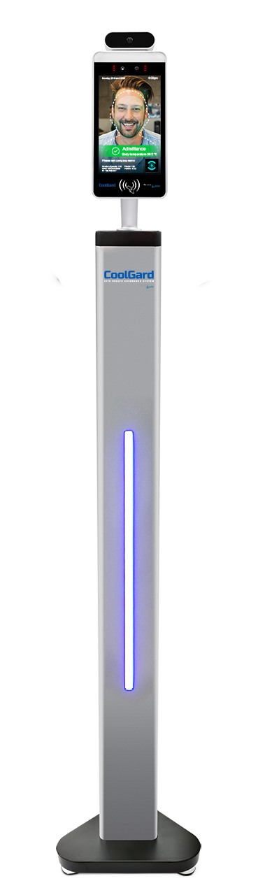 CoolGard facial recogntion AI - floorstand device